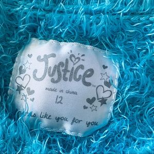 Justice Shirts & Tops - Justice Girls Sequin Fuzzy Sweater